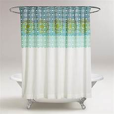 shower curtains with green blue and green iris embroidered shower curtain world market