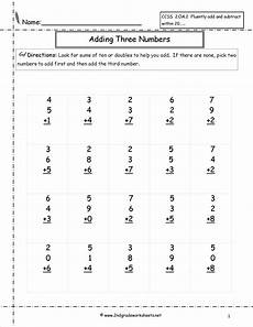 addition worksheet for grade 9892 adding three single digit addition worksheets free math worksheets 2nd grade math worksheets
