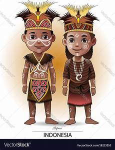 Vector Illustration Papua Traditional Cloth A