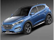 Hyundai Tucson 2016 3D Model .max .obj .3ds .fbx .c4d .lwo