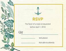 rsvp card template nautical wedding rsvp card template in psd word