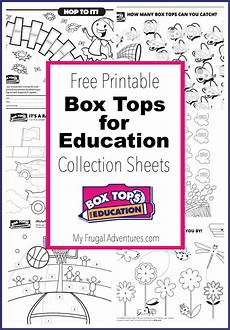 10 printable box tops for education collection sheets