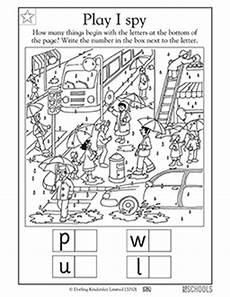 kindergarten preschool reading worksheets play i spy in the city greatschools