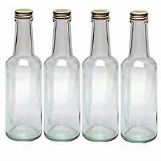 4 glasflaschen mit schraubverschluss 250ml zum
