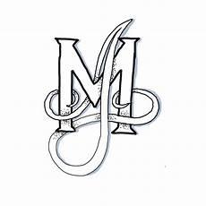 schöne bilder zum zeichnen monogramm zeichnen verschlungene buchstaben creatipster