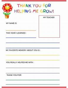 thank you card template for students from this free pdf thank you letter to from