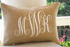 shop for handmade and burlap lumbar pillows with custom monogram beaute