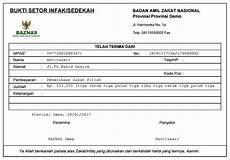 contoh kwitansi pembayaran bsi mencetak bukti setor zakat simbapedia