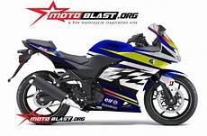 Karbu Modif by Modif Striping Kawasaki 250r Karbu Blue Motoblast
