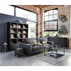 edison libreria libreria stile industriale a 6 cassetti in metallo nero