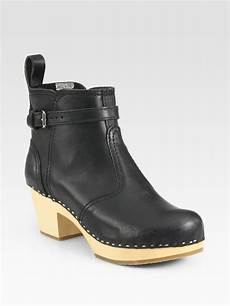 swedish hasbeens seamdetailed ankle boots in black lyst