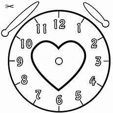 Kostenlose Ausmalbilder Uhr Ausmalbild Uhrzeit Lernen Ausmalbild Herz Kostenlos