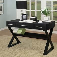 coaster home office furniture sleek black home office desk by coaster furniture