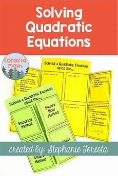 worksheets for elementary 18553 solving quadratic equations math foldable maths algebra math