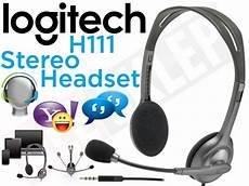 Logitech Headset H 111 Stereo logitech stereo headset h111 słuchawki z mikrofonem