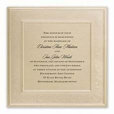Framed Wedding Invitation