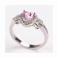 heart fancy pink wedding promise engagement ring for