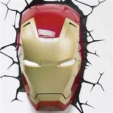3d fx marvel wall lights spiderman iron man thor hulk