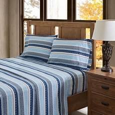 fair isle flannel sheet queen blue target