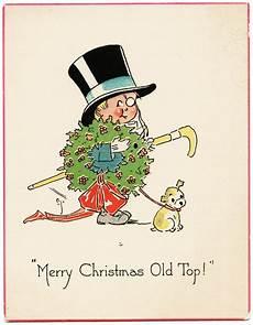merry christmas old top vintage card old design shop blog