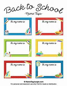 Free Printable Back To School Name Tags The Template Can