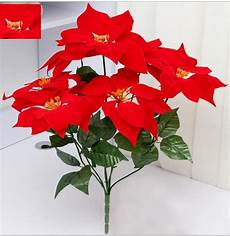 Artificial Flowers Poinsettia Flower Home
