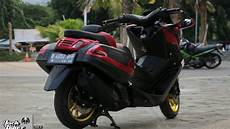 Modifikasi Warna Nmax by Kumpulan 54 Modifikasi Yamaha Nmax Hitam Doff