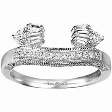 cz wedding ring wraps solitaire ring wrap enhancer in sterling silver