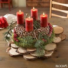 astscheiben zum basteln adventskranz mit astscheiben advent wreath