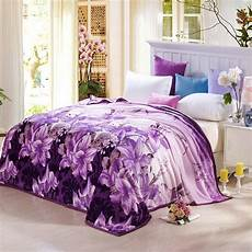 plaid adulte personnalisé sofa travel blanket purple portable warm winter coral fleece blanket on the bed home plaid