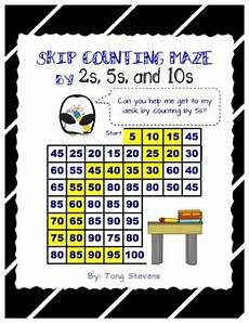skip counting mazes worksheets 11955 skip counting maze 2s 5s and 10s by miss tpt