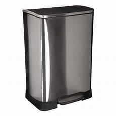 poubelle de cuisine 50l argent
