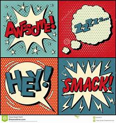 Set Of Comics Bubbles In Pop Style Stock Vector