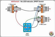 guitar effects wiring diagram a b switch wiring diagram no led dpdt switch diy pedals led