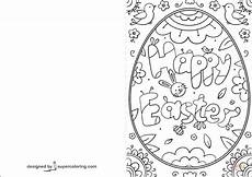 card template for colouring happy easter doodle card coloring page free printable