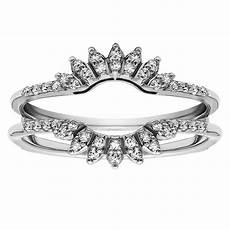 0 2 ctw diamond solitaire ring guard enhancer rg154 d