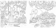 ausmalbilder jungle tiere magical jungle johanna basford malbuch fuer