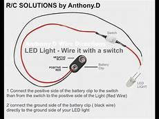 how to wire your axial scx10 led lights with a switch youtube