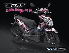Modif Stiker Beat by Stiker Motor Honda Beat Fi Warna Hitam Modif Striping Beat