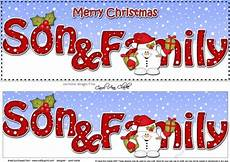 large dl merry christmas son family insert with snowball sam cup914924 359 craftsuprint