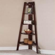 lovely contemporary sleek walnut corner shelf bookcase