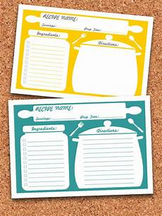 card template printable recipe cards printable editable instant