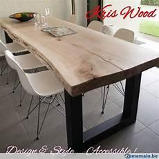 table plateau bois brut plateau chene blanc sec 300cm tres massif pour table 67mm table table plateau chene et