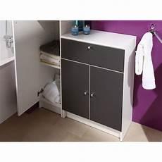 slash meuble bas de salle de bain l 59 cm gris