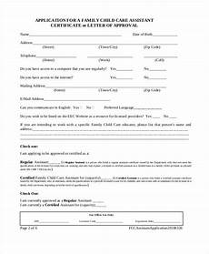 free 10 child care application forms in pdf ms word