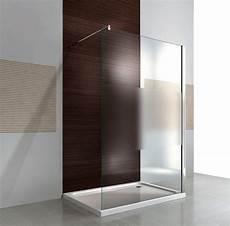 Walk In Dusche Milchglas - duschabtrennung walk in dusche ex101 8mm nano echtglas