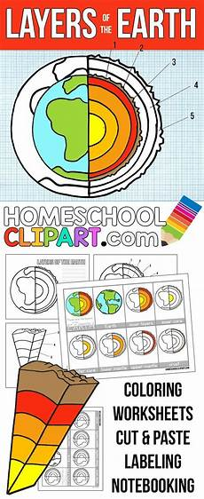earth science worksheets elementary 13237 free layers of the earth printables notebooking pages science journal nomenclature cards