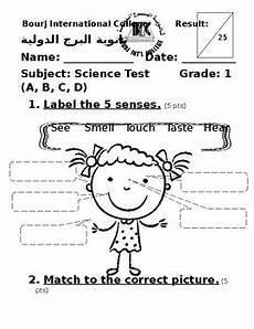 the five senses worksheets for grade 1 12573 five senses and science tools by laylanoureddine noureddine tpt