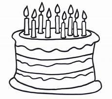 Kumpulan Gambar Mewarnai Kue Ulang Tahun Anak Tk Paud Sd