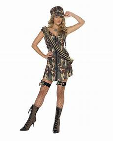 karnevalskostüme damen army kost 252 m kurzes camouflage kleid horror shop